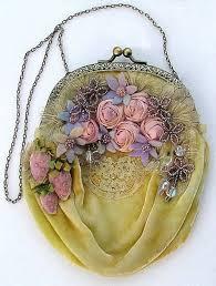 Vintage Purse <b>Velvet</b>, <b>Lace</b>, French Ribbon & Beads. I love the ...