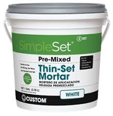 SimpleSet® Pre-Mixed <b>Thin</b>-<b>Set</b> Mortar | Custom Building Products