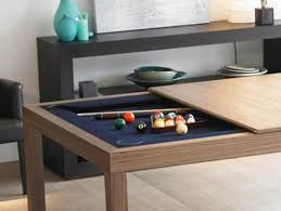 Pool table that is a dining table Billiards View In Gallery Ugarelay Pool Table Dining Room Table u003d One Happy Family