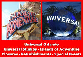 universal orlando ride closures and