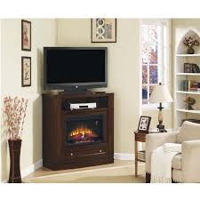 Furniture The Most Valuable Corner TV Stand With Fireplace For Electric Corner Fireplace Tv Stand