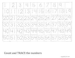 Trace Chart Trace The Number 1 59 Worksheet Tracing Worksheets Number