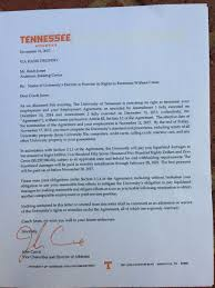 Firing Letter Look Heres The Letter John Currie Used To Fire Butch Jones