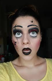 deea make up makeup creepy broken doll