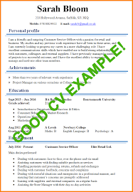 good cv template 7 good cv sample actionplan templated