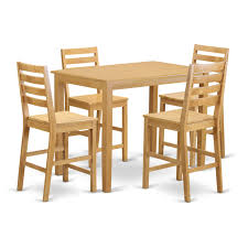 east west furniture yarmouth 5 piece high ladder dining table set com