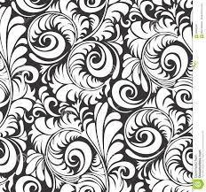 Batik Pattern Seamless Floral Background Vector Illustration Stock