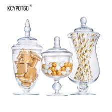 Large Decorative Glass Jars SWEETGO Transparent glass jar candy jar large food storage tank 62