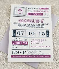 Free Bridal Shower Invitation Templates Microsoft Word Vintage Ring