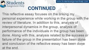 reflective essay on teamwork continued 7