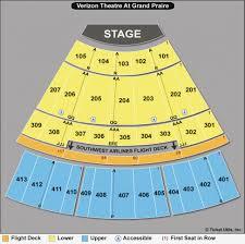 Verizon Theater Seating Chart Experienced Verizon Theater Grand Prairie Texas Seating