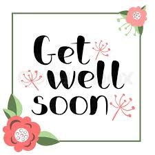 Get Well Soon Poster Get Well Soon Card With Hand Drawn Stock Vector