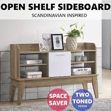 sideboard buffet hallway table shelves storage entrance cabinet scandinavian