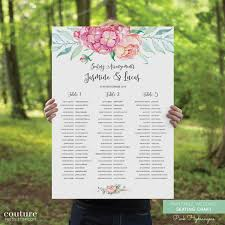 Guest Seating Chart Template Printable Wedding Seating Chart Diy Printable Guest