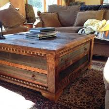 wood square coffee table reclaimed