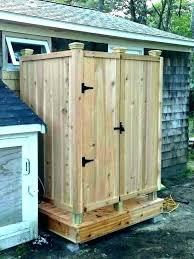 outdoor shower enclosure plans designs ideas home pvc pipe