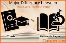 know how to differentiate between thesis and research paper