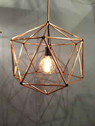 contemporary cage copper pendant light design