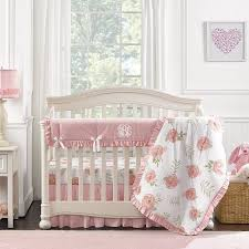 pink peony perless crib bedding 4 pc quilt