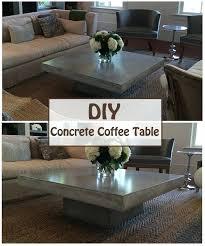 concrete coffee table diy scoop round scoopcom concrete coffee table