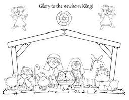 Nativity Coloring Page Preschool Items Juxtapost