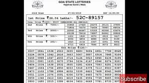 Rajshree Result Chart Rajshree Lottery 4pm 27 02 2019 Live Result Lottery Sambad