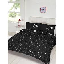 glow in the dark double duvet set black bedding sets for plans 1