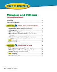 Variables And Patterns Introducing Algebra