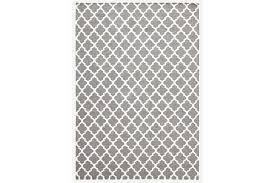 bazaar grey trellis wool flat weave rug 225x155cm