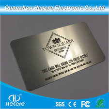 Stainless Steel Business Cards Hot Item Stainless Steel Electroplate Matt Blank Metal Business Card