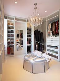 white traditional walk in closet for her