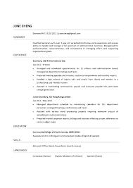 Resume Secretary | Resume For Your Job Application