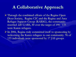 a collaborative approach through the bined efforts of the regina open door society regina