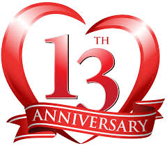 13th anniversary clip art