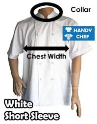 Chef Jacket Size Chart Chef Uniform Measurements For Chef Jackets Chef Aprons