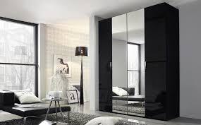 rauch cetina black black glass 6 door glass wardrobe only 679 99 furniture choice
