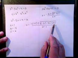 rewriting a 4th degree polynomial in quadratic form and applying the quadratic formula you