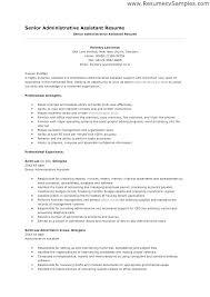 Sr Administrative Assistant Resume Ptctechniques Info