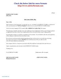 Offer Letter Acceptance Mail Format Job Offer Letter From Employer To Employee Example Uk