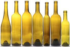 group of bottles (empty)