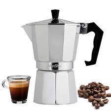 3d Creations Classic <b>Aluminum Moka</b> Pot Italian Espresso <b>Coffee</b> ...
