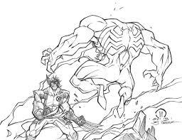 Wolverine Vs Venom Sketch By Joey