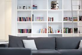 For Bookcases In Living Rooms Modern White Bookcase Surripuinet