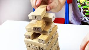 Game Played With Wooden Blocks Let's play kids with Number building blocks Wooden Jenga Game 46