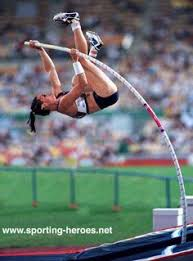 an early amazing american pole vaulter sport body female pole vaulter