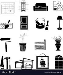 Icon For Interior Design Interior Design Icons Set