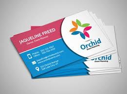 Orchid Event Planner Business Card Template Mycreativeshop Ericn Us