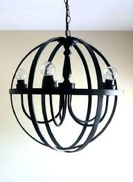 metal orb chandelier black large metal orb chandelier world market