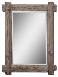 wood mirror frame. Rustic Mirror Frame Photo - 1 Wood