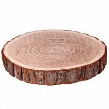 2 x 34cm dia natural wood log slice